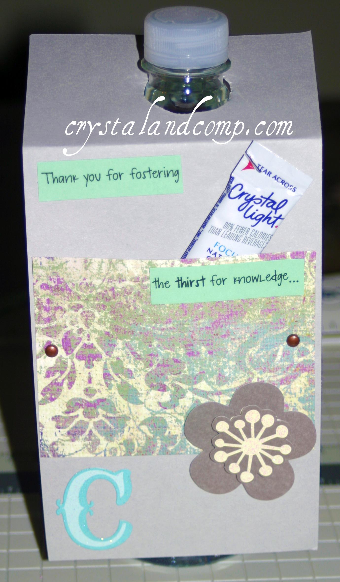 Teacher Appreciation Gifts: DIY Water Bottles