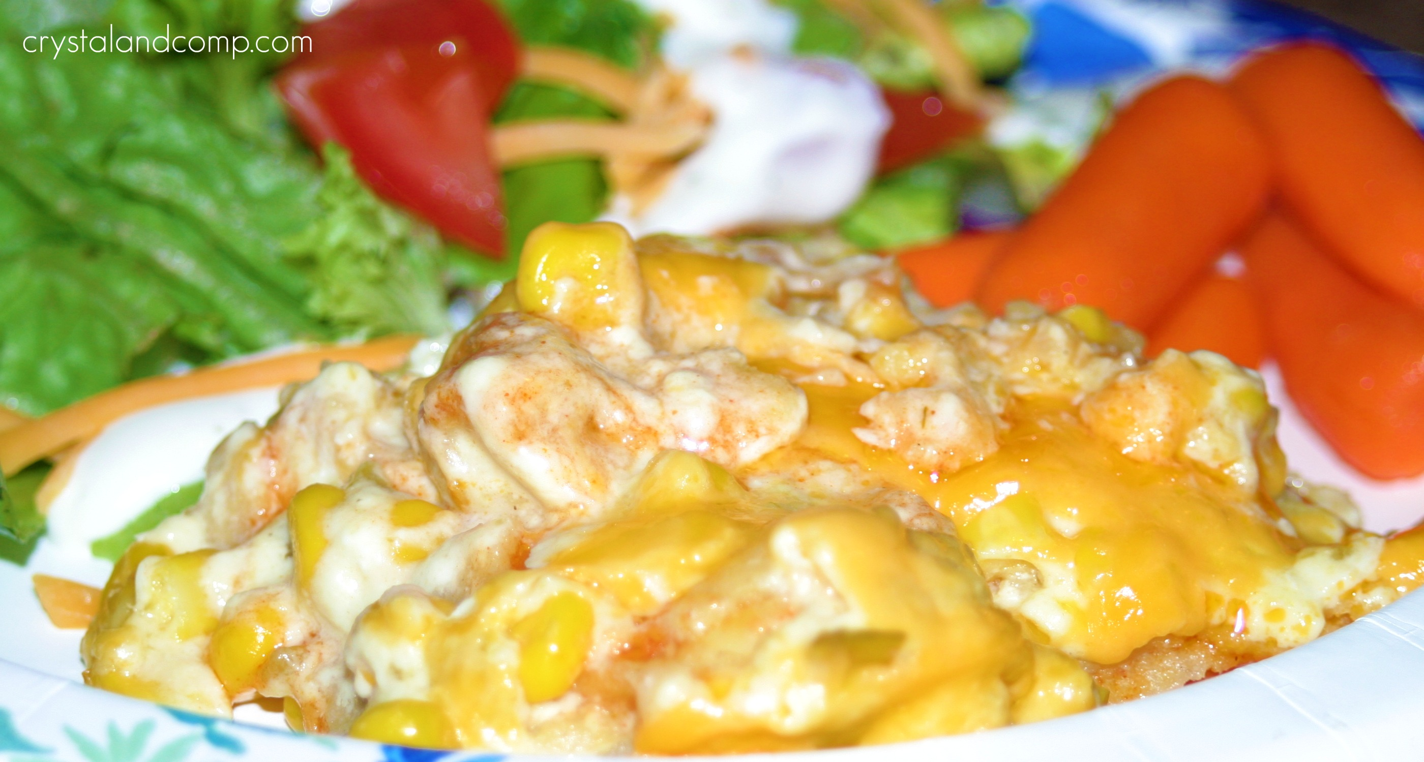 Crockpot Chicken Enchilada Casserole
