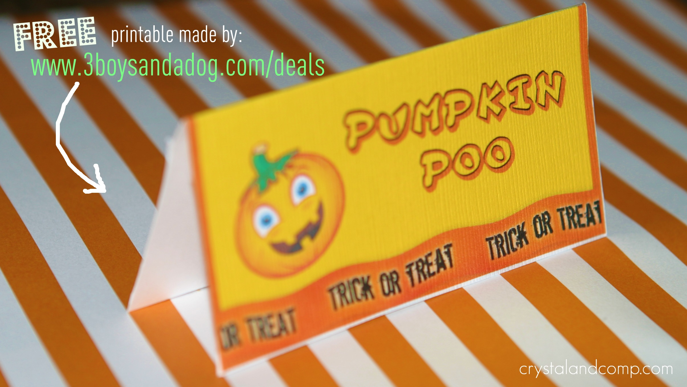 halloween craft ideas pumpkin poo with free printable