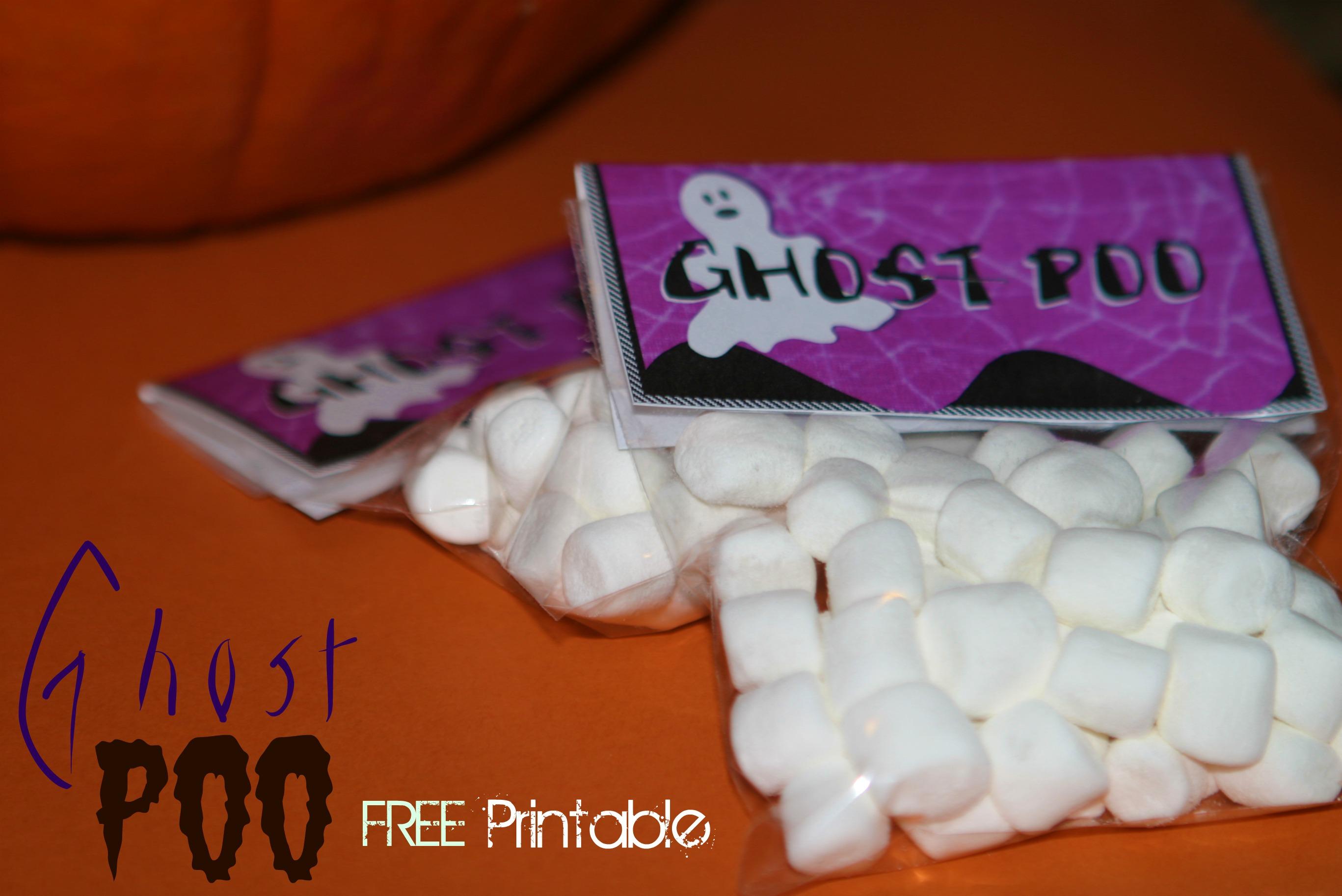 halloween craft idea: ghost poo with free printable | crystalandcomp