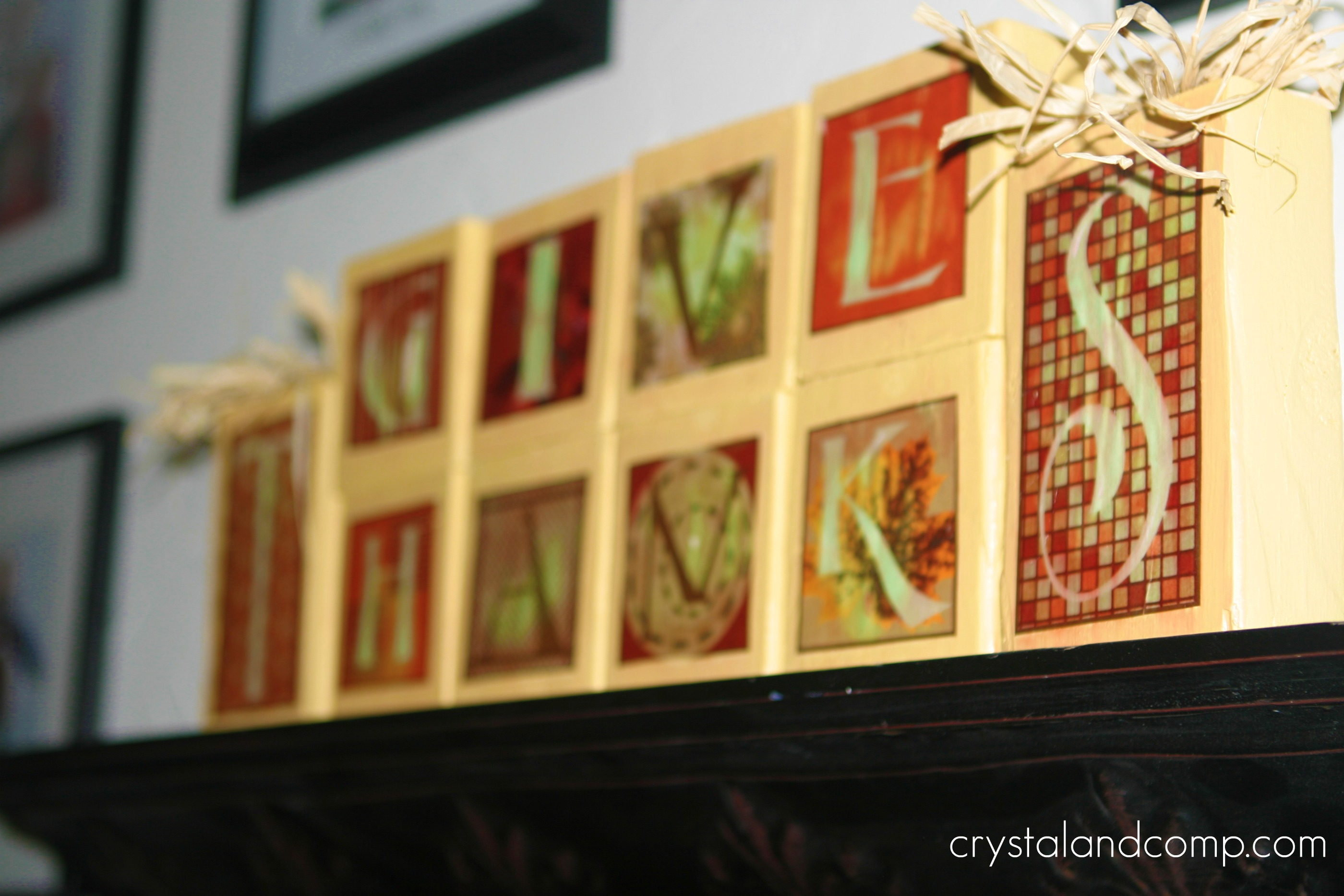 Fall Craft Ideas: Thanksgiving Wooden Blocks with Free Printable ...