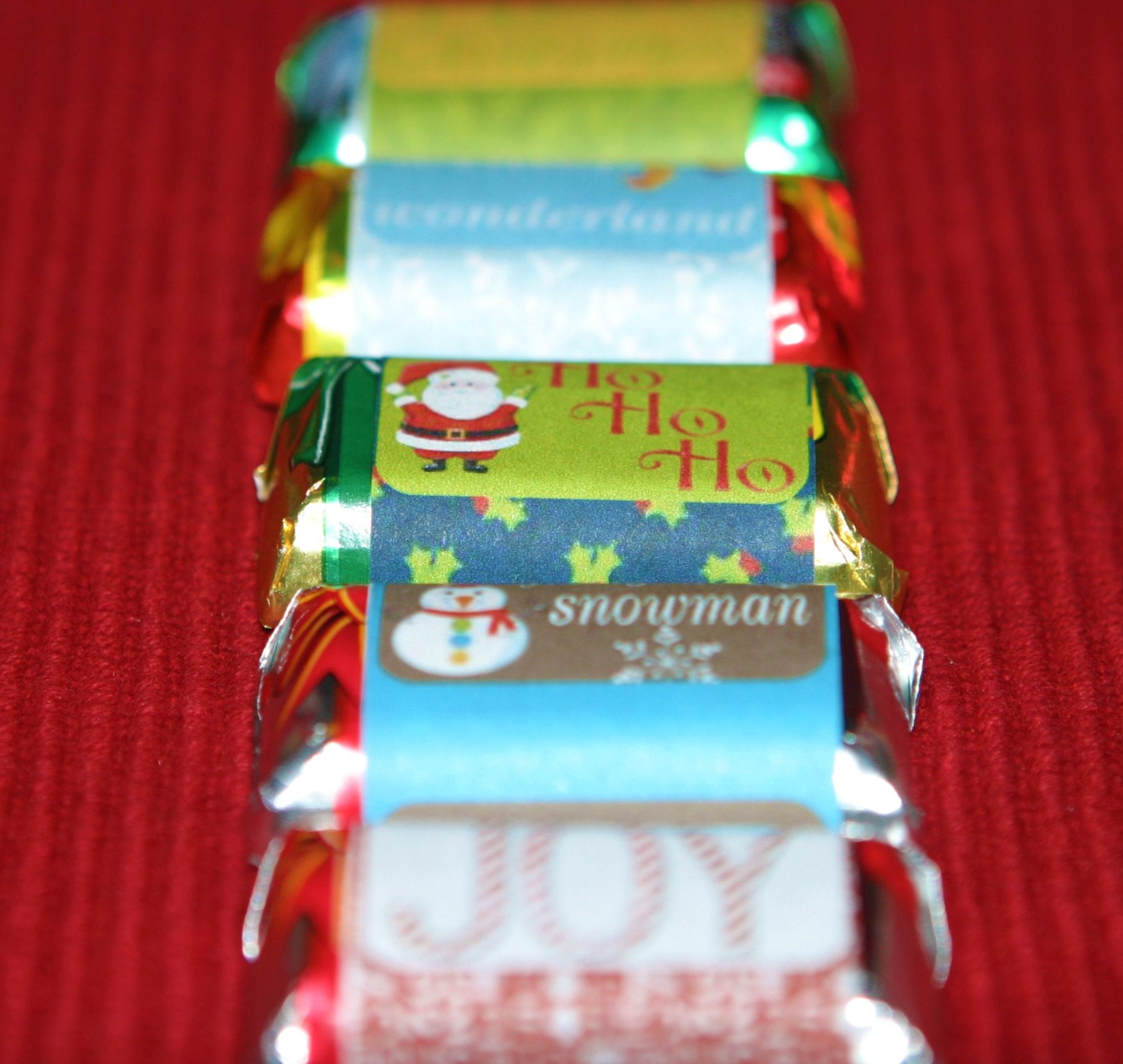 photo relating to Free Printable Christmas Candy Bar Wrappers identified as Xmas Sweet Wrapper Template