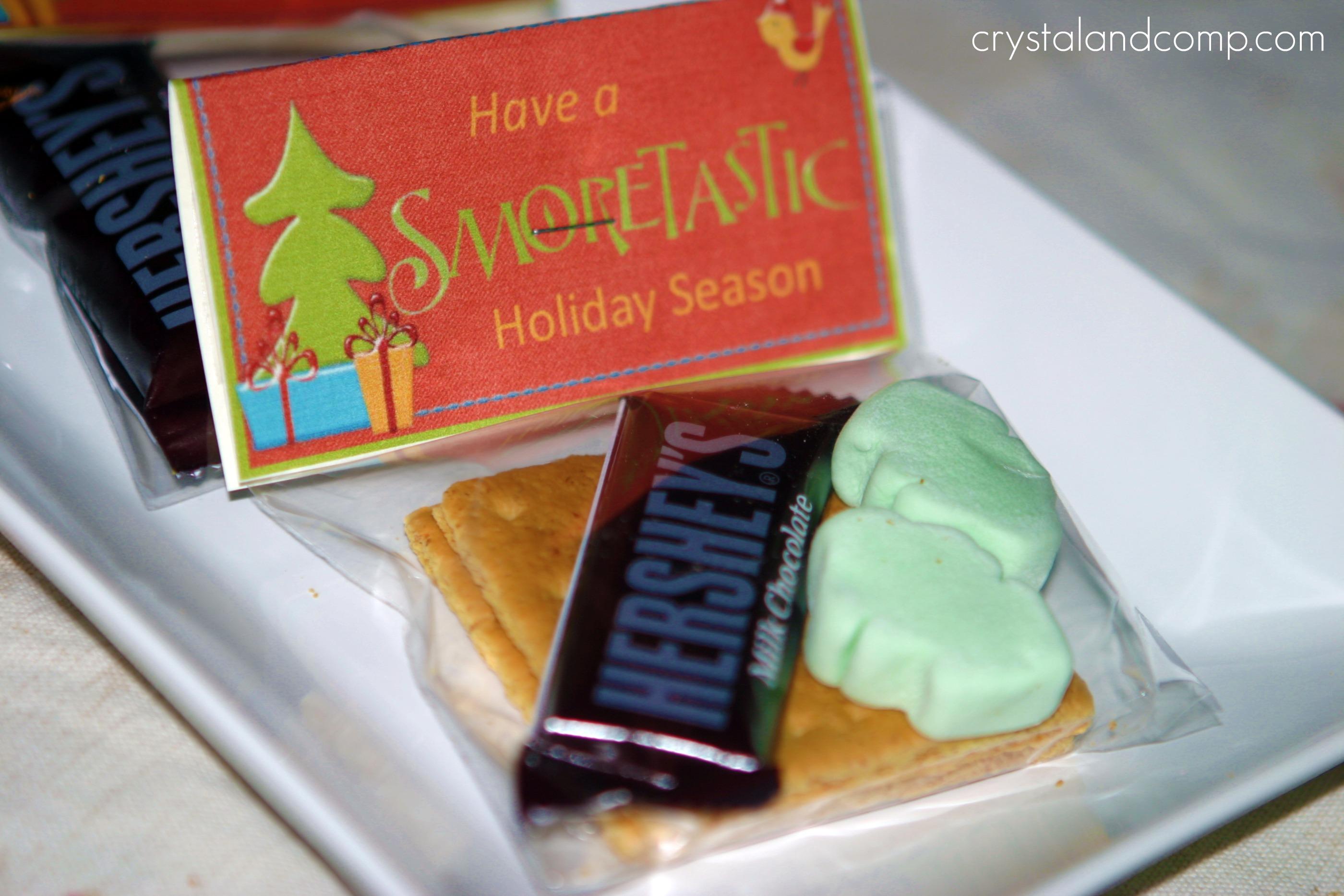 Christmas Crafts: S\'More Treat Bag with Free Printable ...