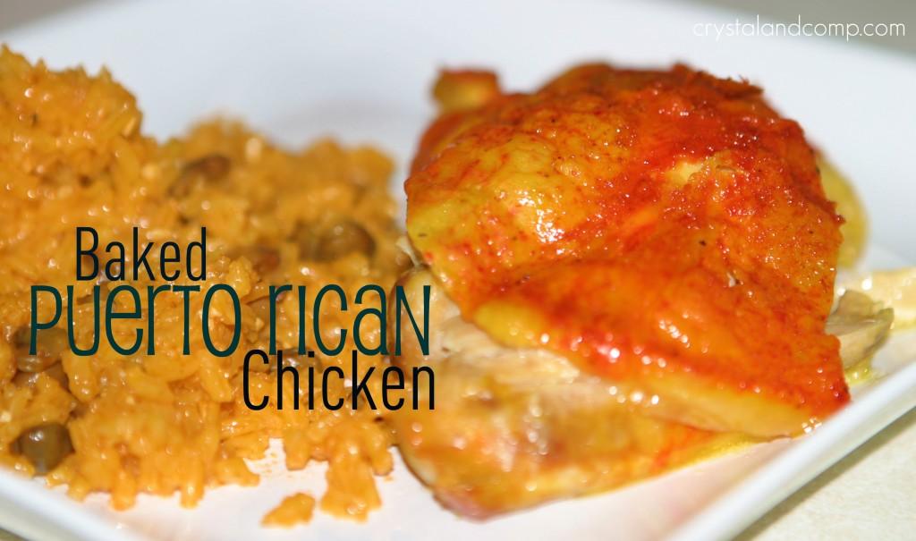 Baked Puerto Rican Chicken Crystalandcomp Com