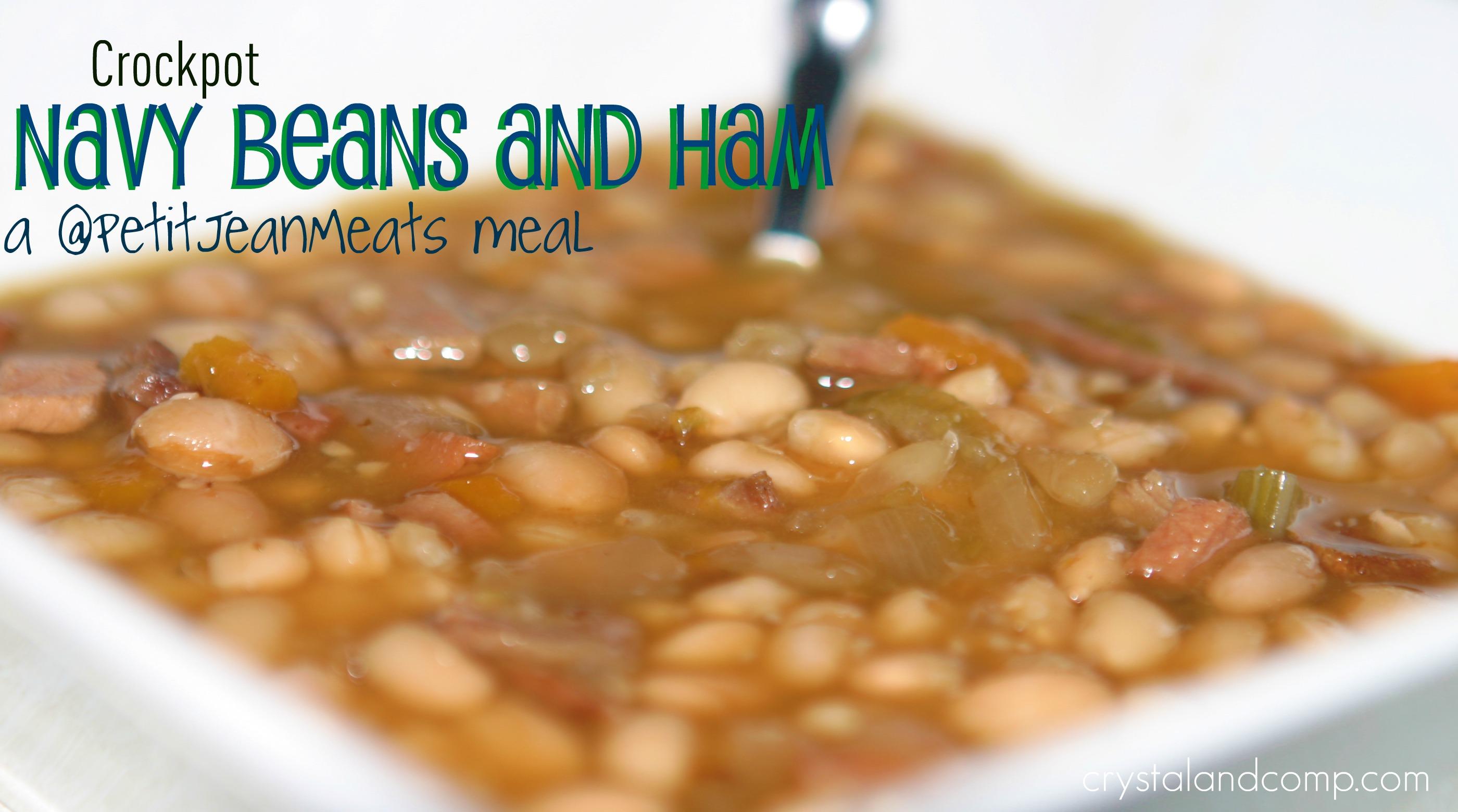 Easy Recipe Crockpot Navy Beans And Ham Txbacon