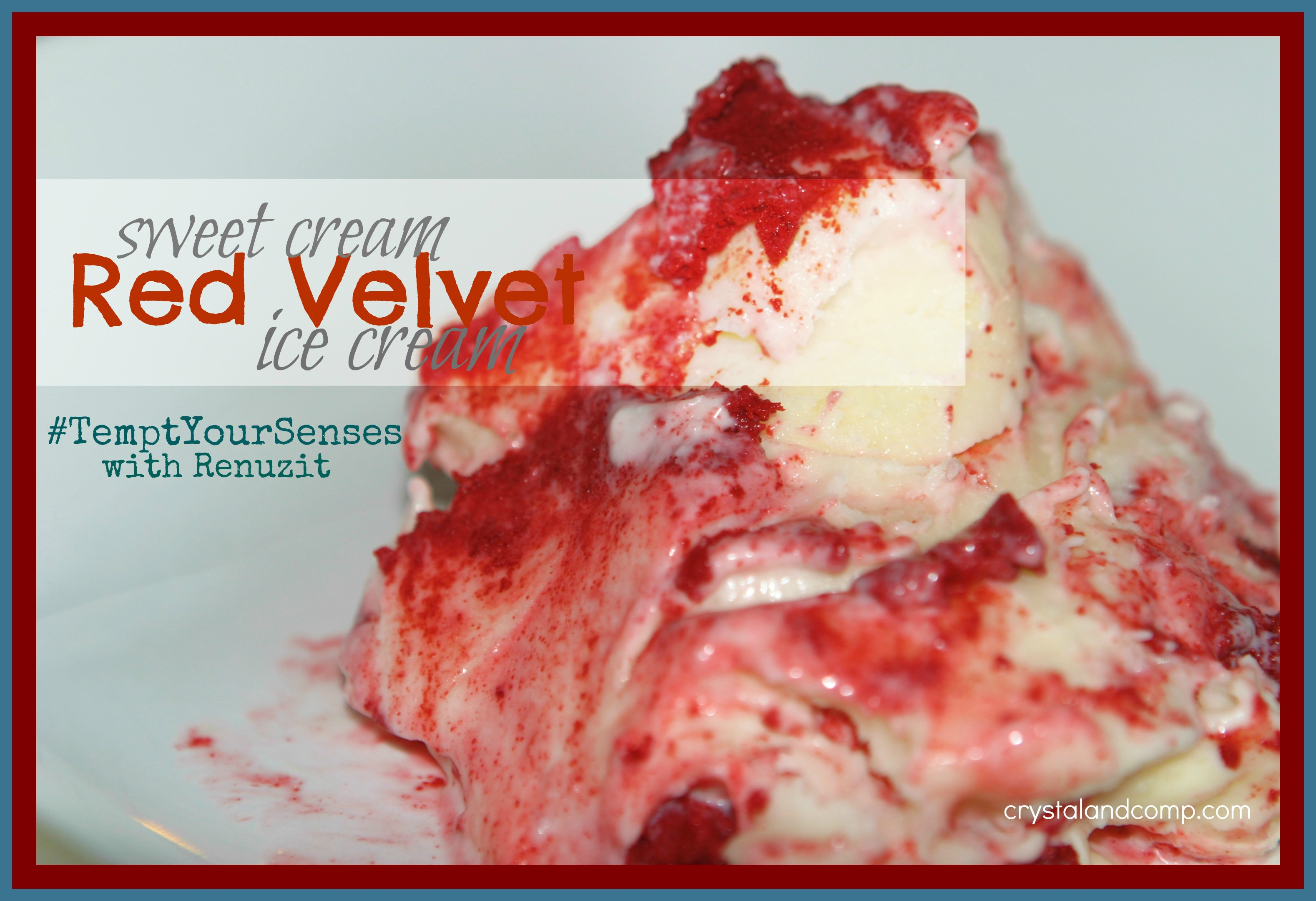 Easy recipes sweet cream red velvet ice cream no machine for How to make delicious ice cream at home