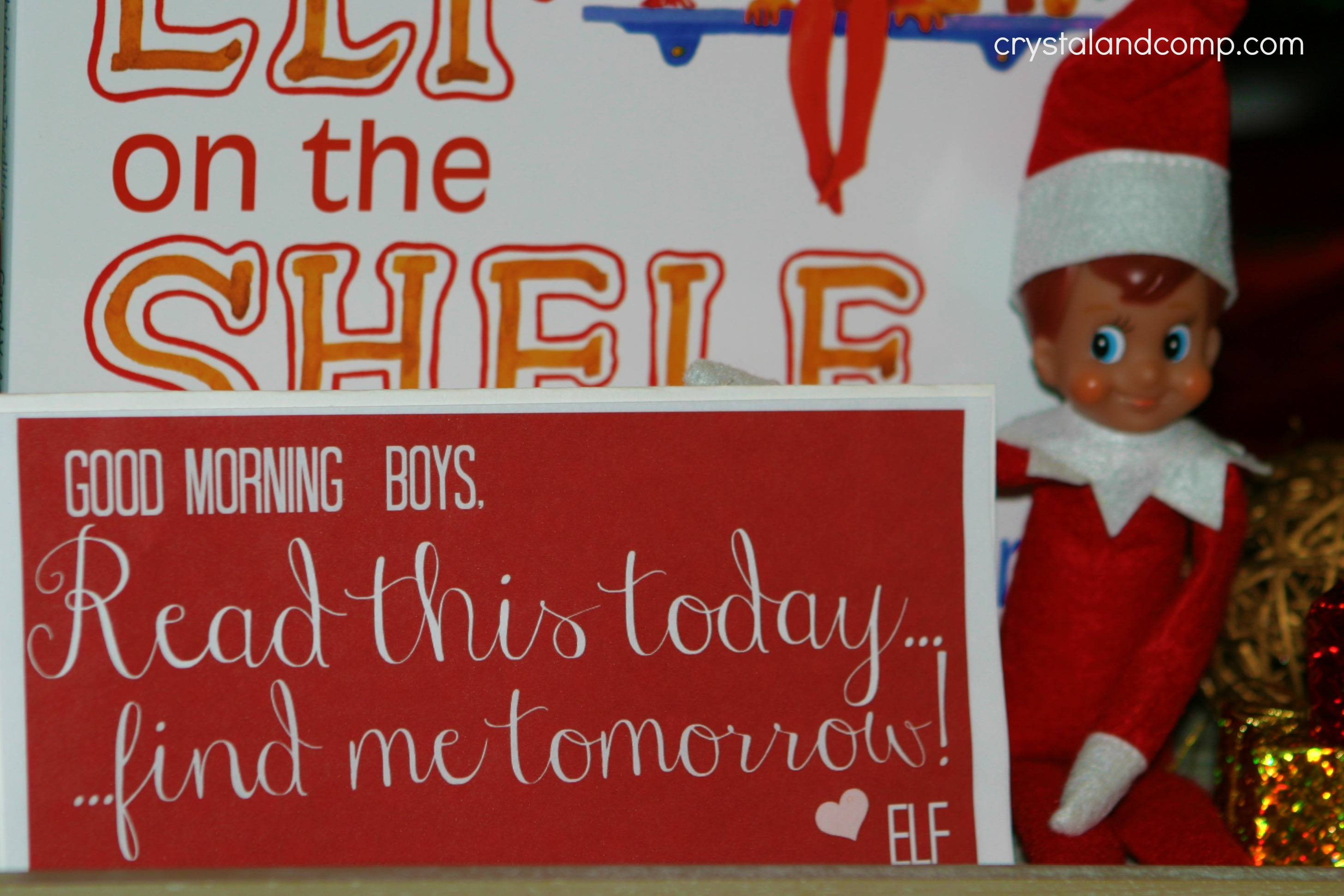 photo relating to Elf on the Shelf Welcome Back Letter Printable named Elf upon the Shelf: Welcome Be aware