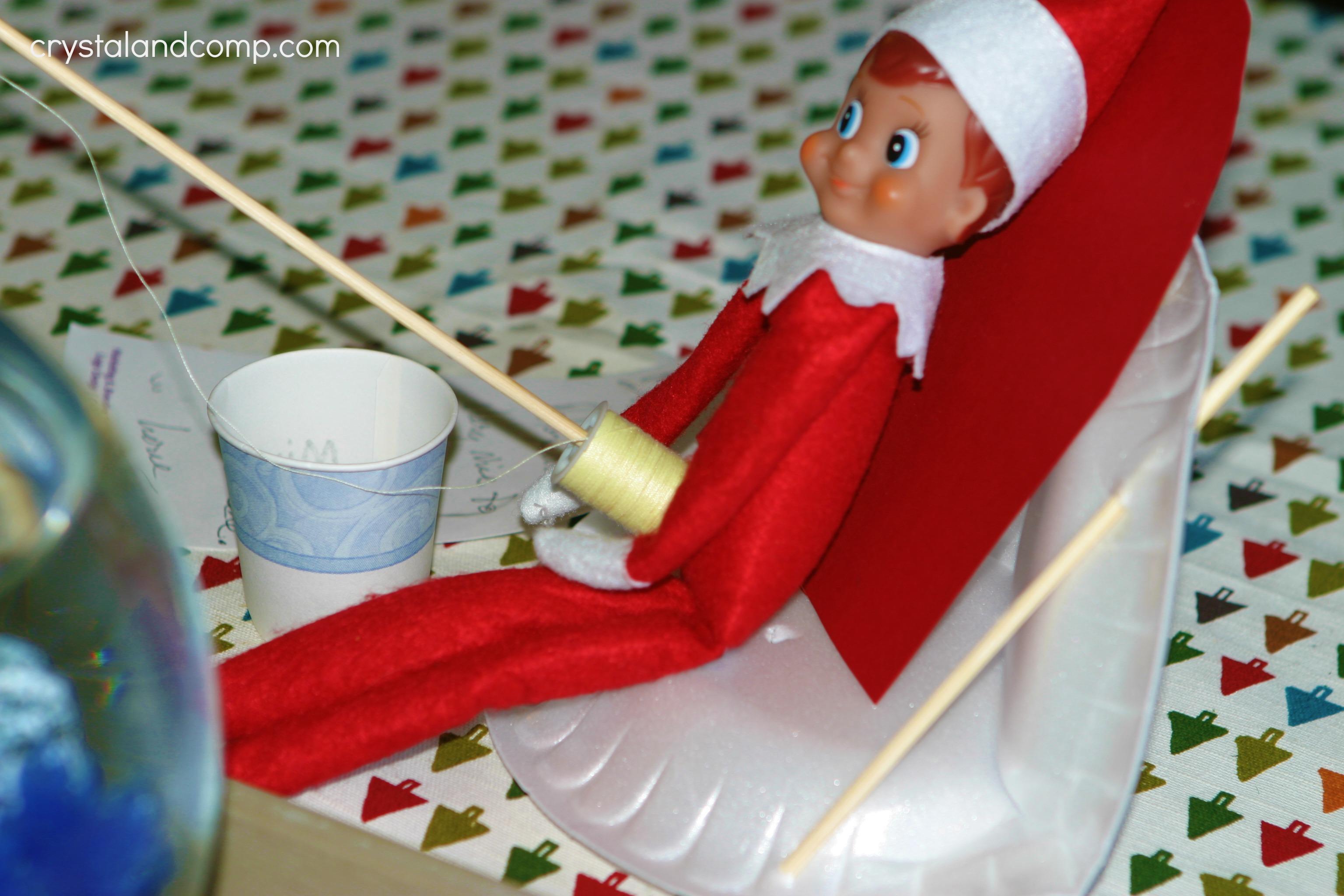 Elf On The Shelf Gone Fishing Macgyver Style