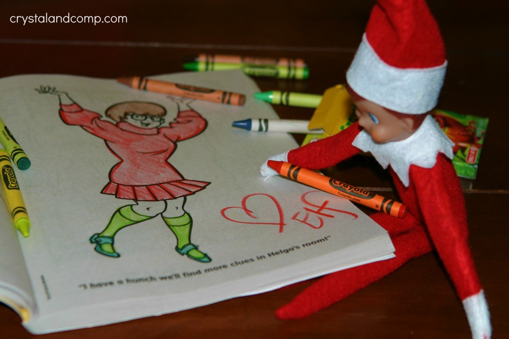 - Elf On The Shelf Coloring Book