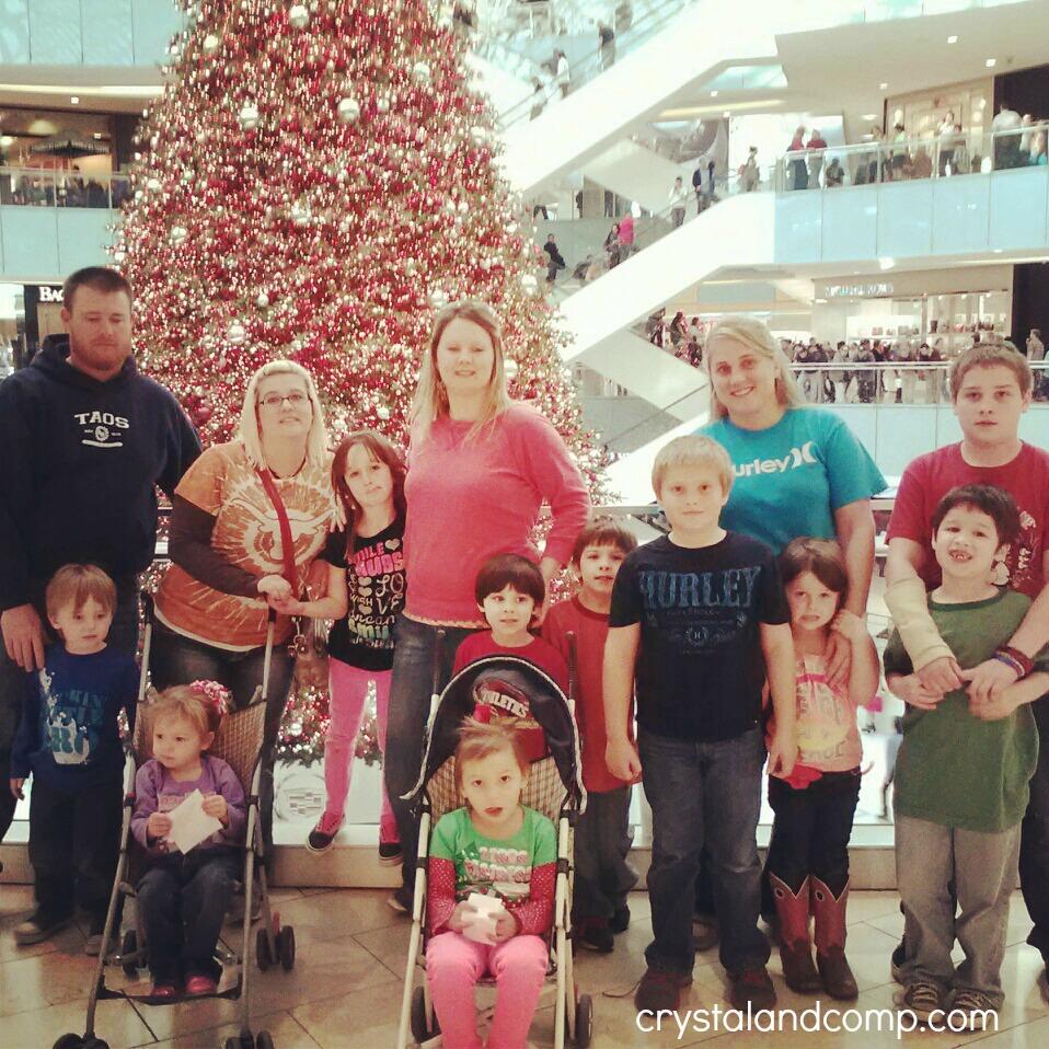family at galleria