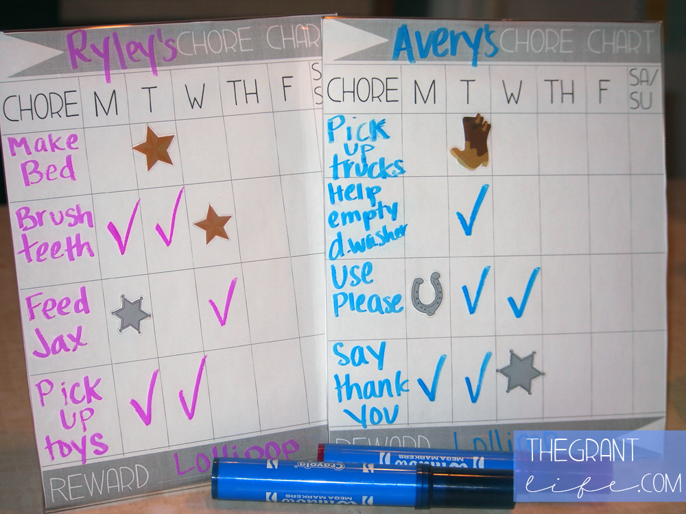Activities for Kids - Chore Chart With Printable