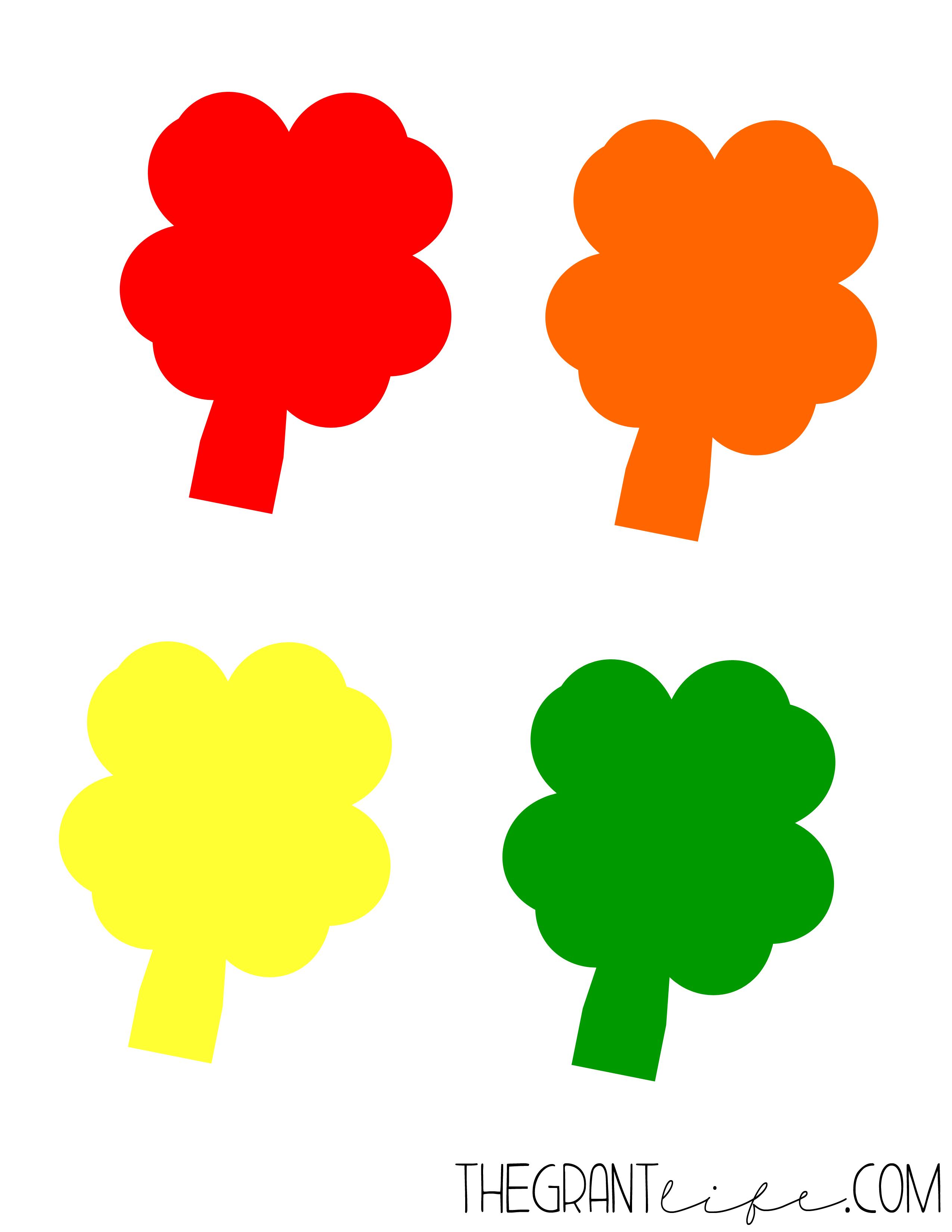 St Patrick Day Crafts: Shamrock Color Match