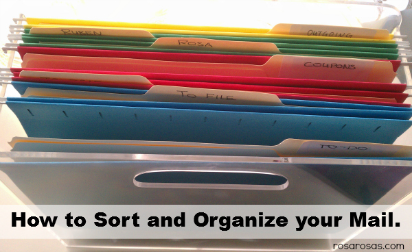 organize and sort mail