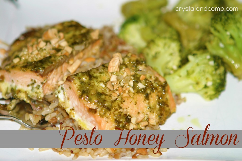 pesto honey salmon