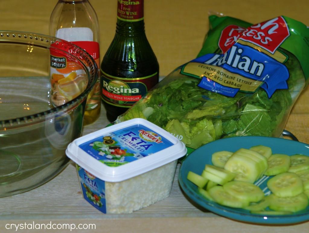 easy italian side salad