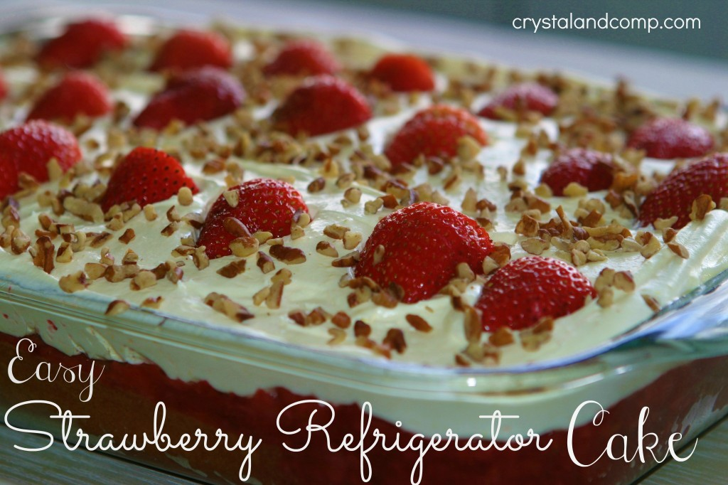 Easy Recipes Strawberry Refrigerator Cake