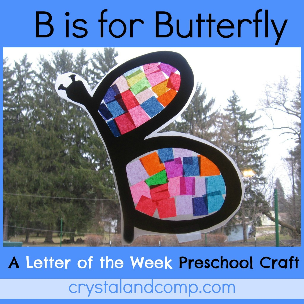 B is for butterfly preschool craft (1) - crystalandcomp