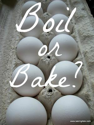 Boil or Bake hard boiled eggs