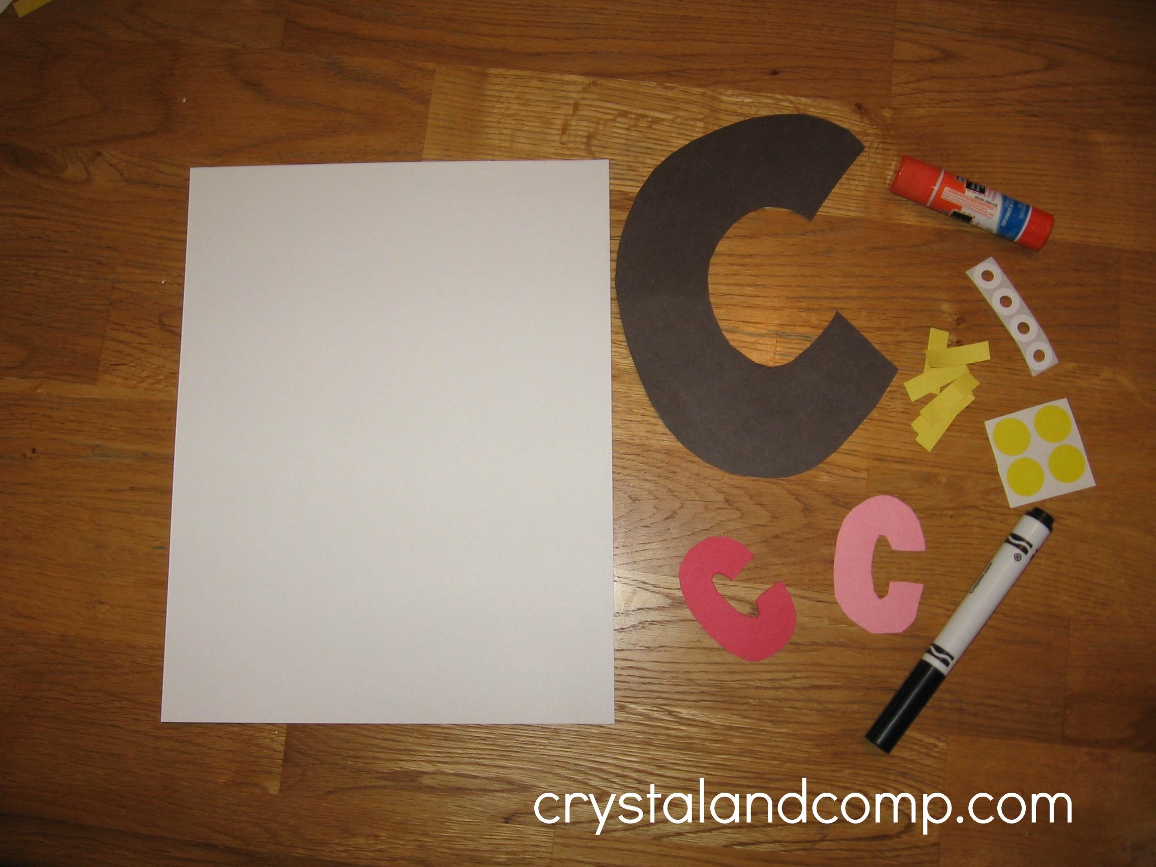 letter c preschool craft letter c preschool