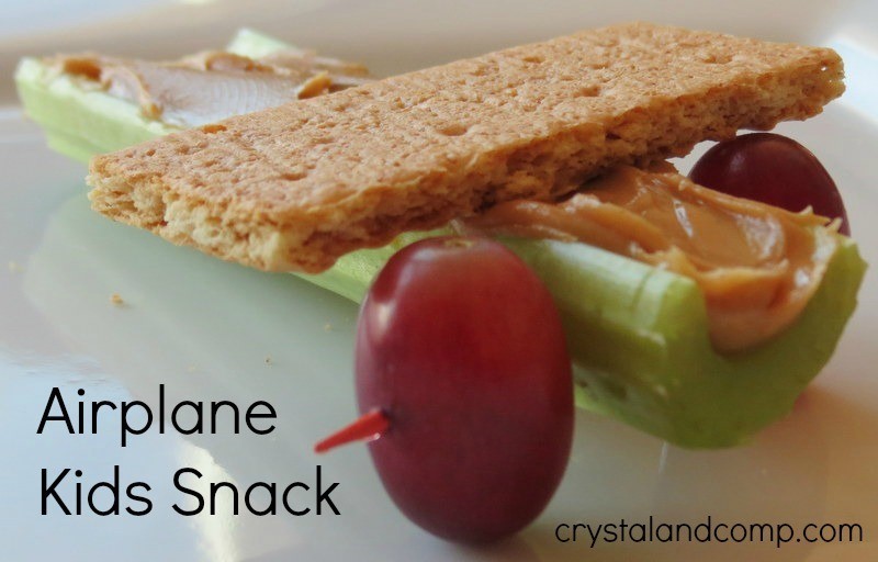Letter Of The Week Preschool Snack A Is For Airplane on Celery Crafts