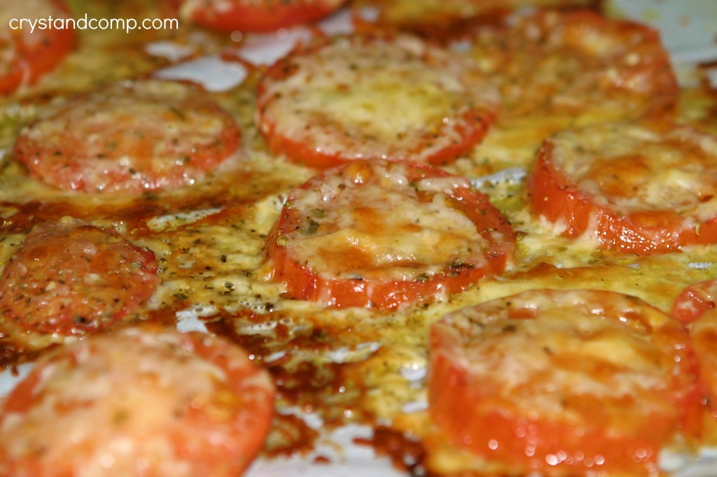 roast tomatoes until cheese is golden brown