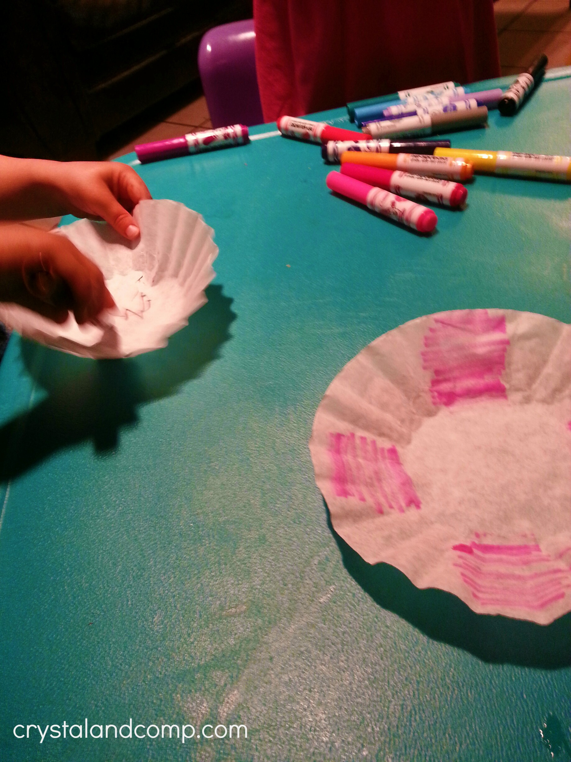 Teacher appreciation gift ideas handmade flowers use markers to color in coffee filters to then make paper flowers mightylinksfo