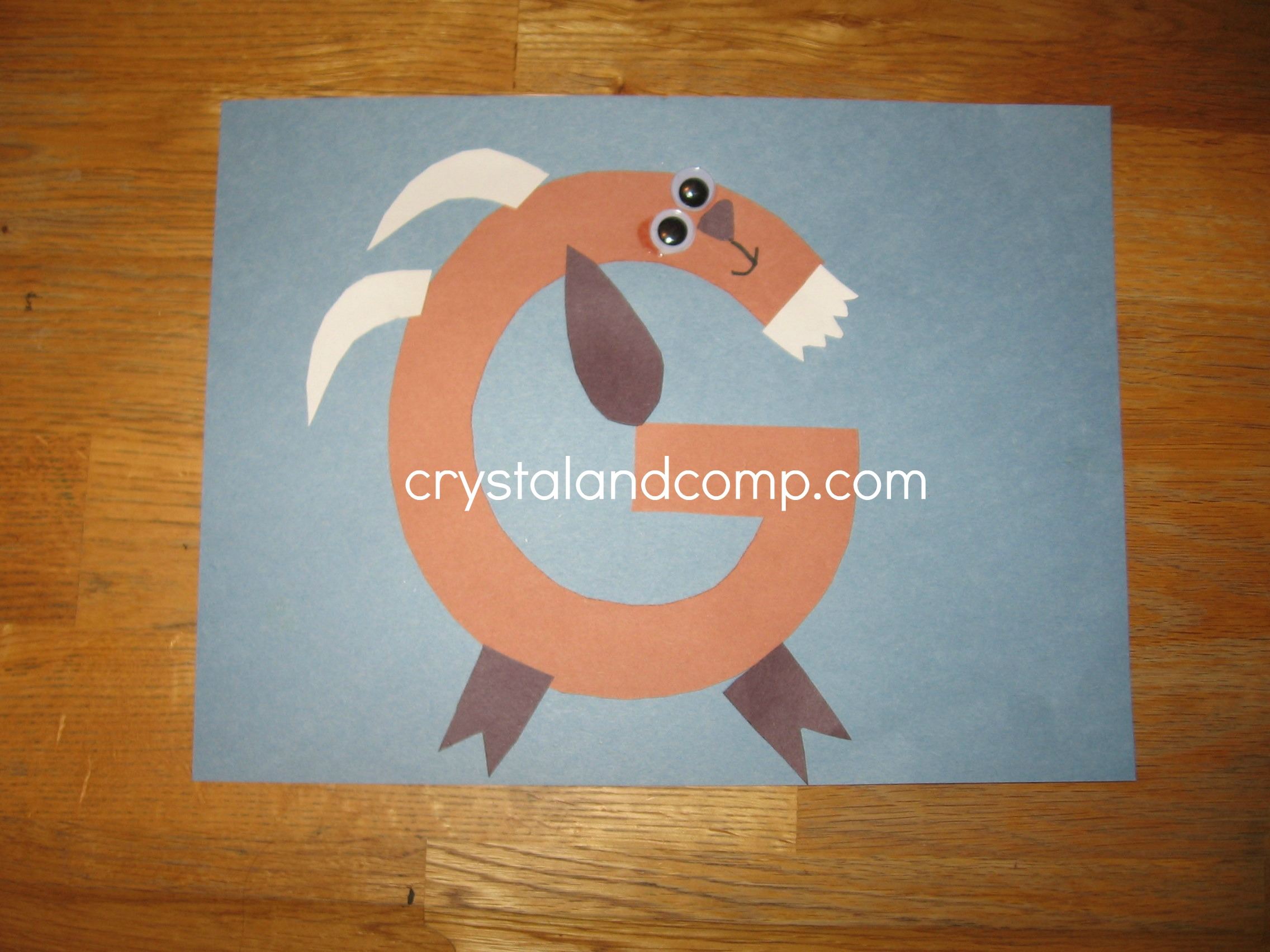 G Is For Goat A Letter Of The Week Preschool Craft on Letter Of The Week Crafts For Preschoolers