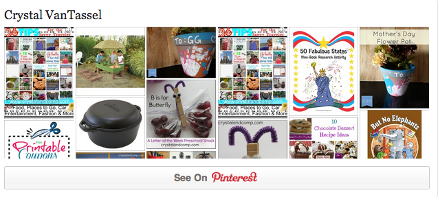 Crystal on Pinterest Button