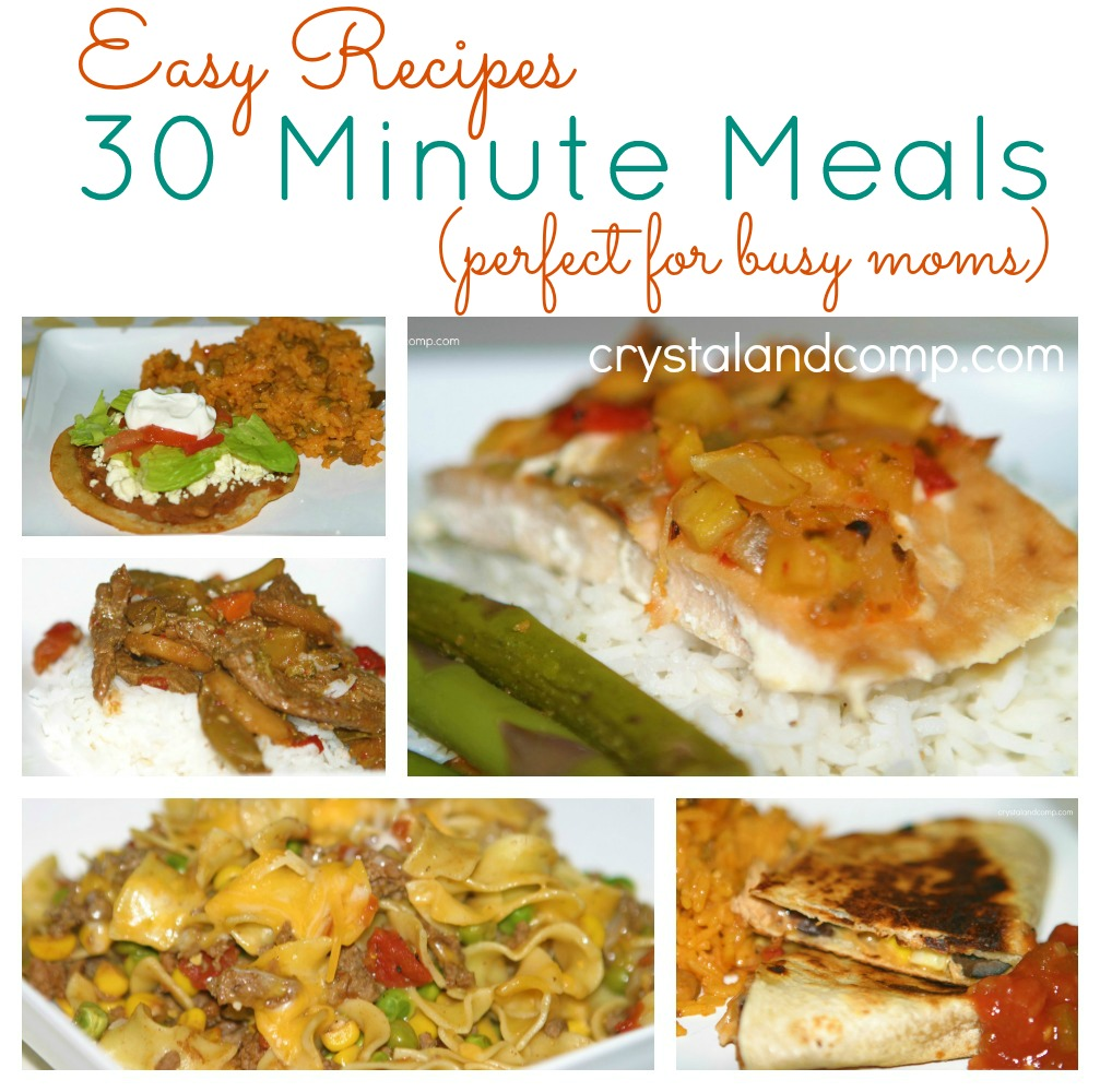 easy recipes (30 minute meals)