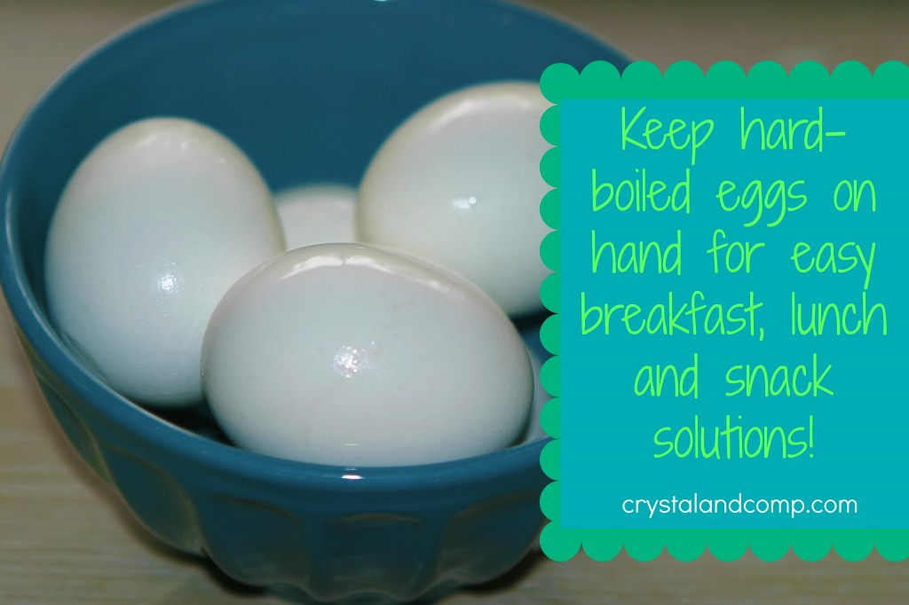 hard-boiled eggs make perfect breakfast lunch and snack ideas!
