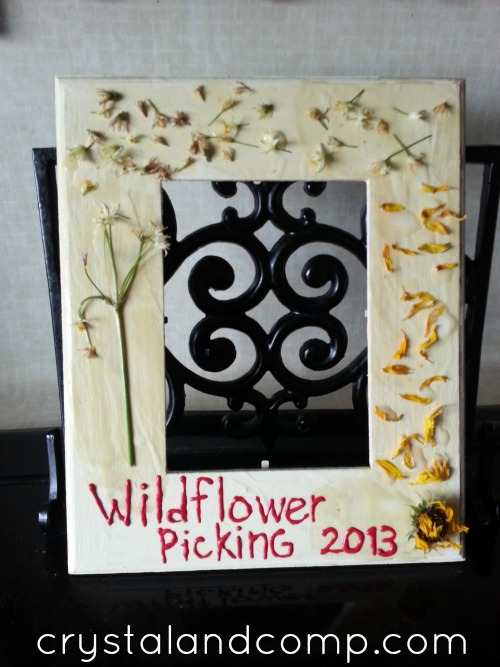 summer activities for kids- make a wildflower frame