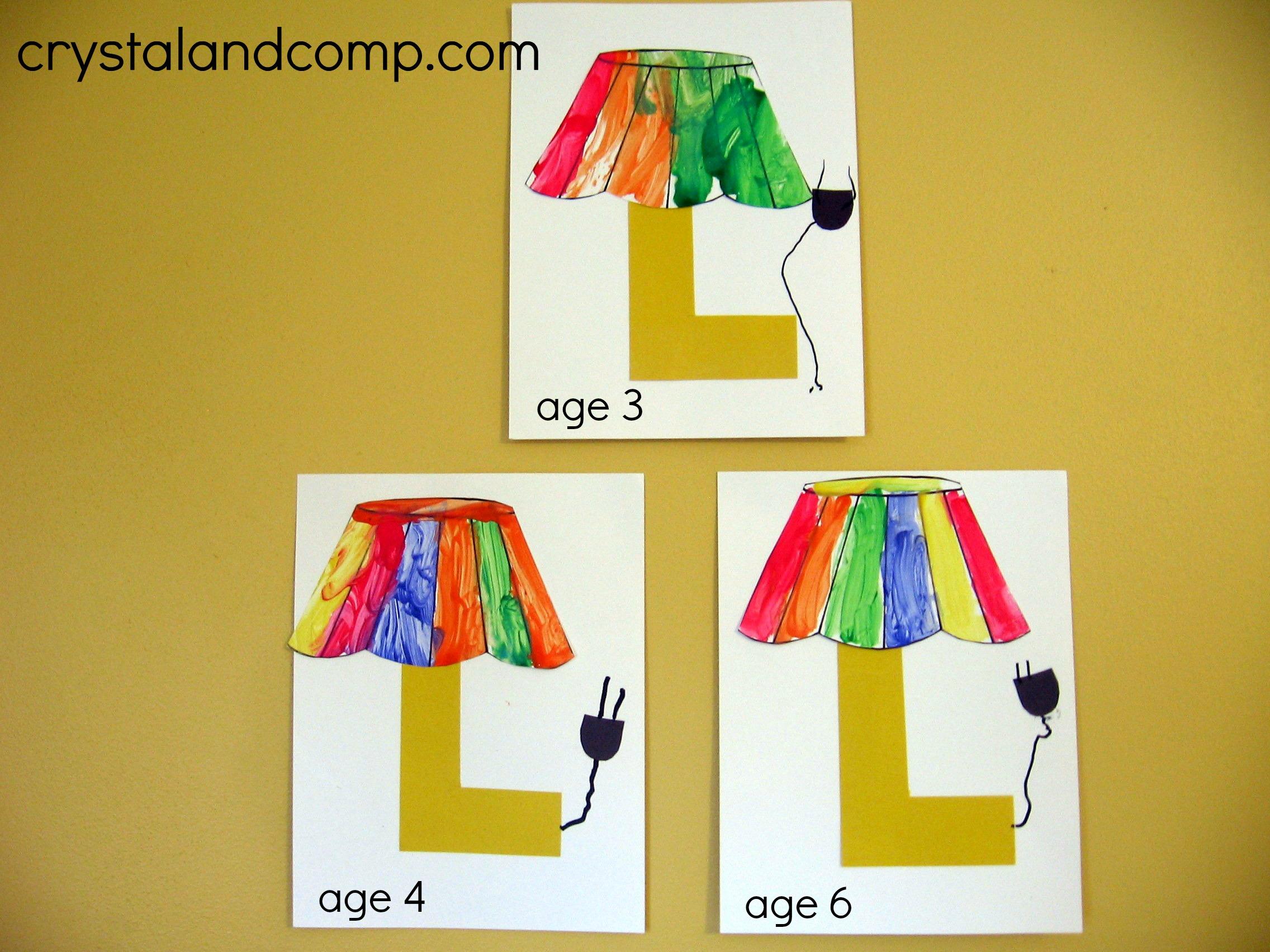 Alphabet Activities for Preschoolers: L is for Lamp