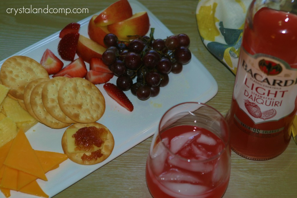 fourth of july food: fruit cheese and bacardi