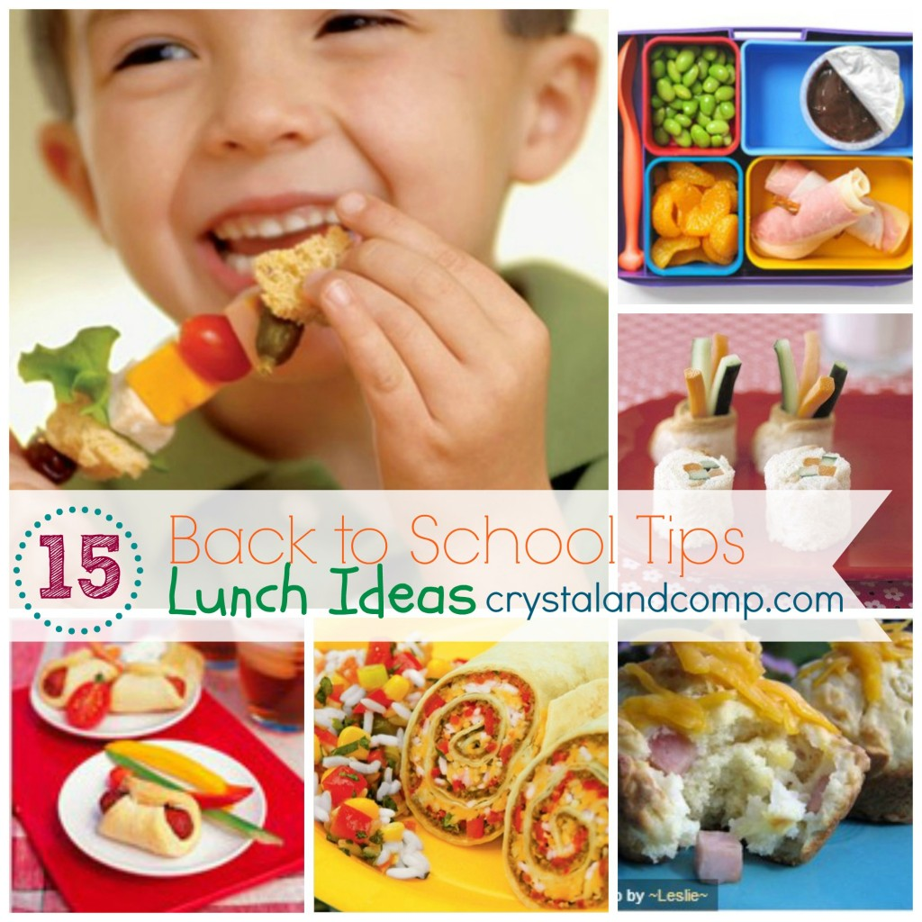 Back to School Tips  Lunch Ideas