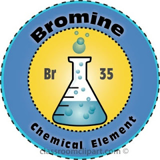 Bromine Chemical Element Clipart
