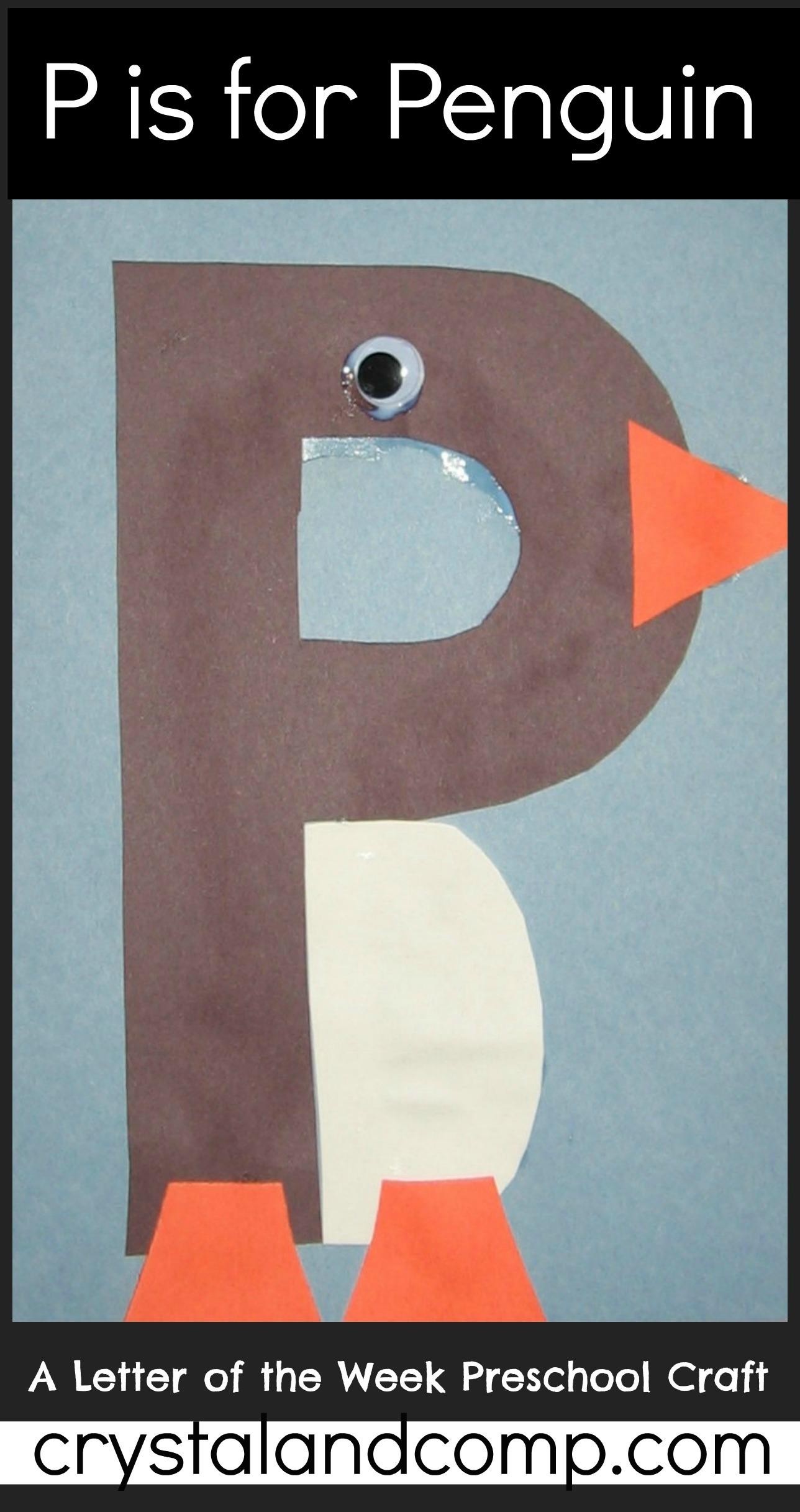 Alphabet activities for preschoolers letter of the week p for Letter p preschool crafts