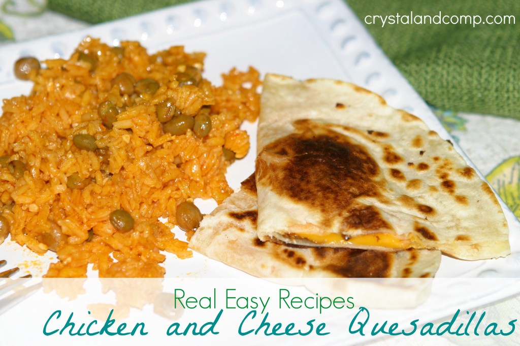 real easy recipes chicken and cheese quesadillas
