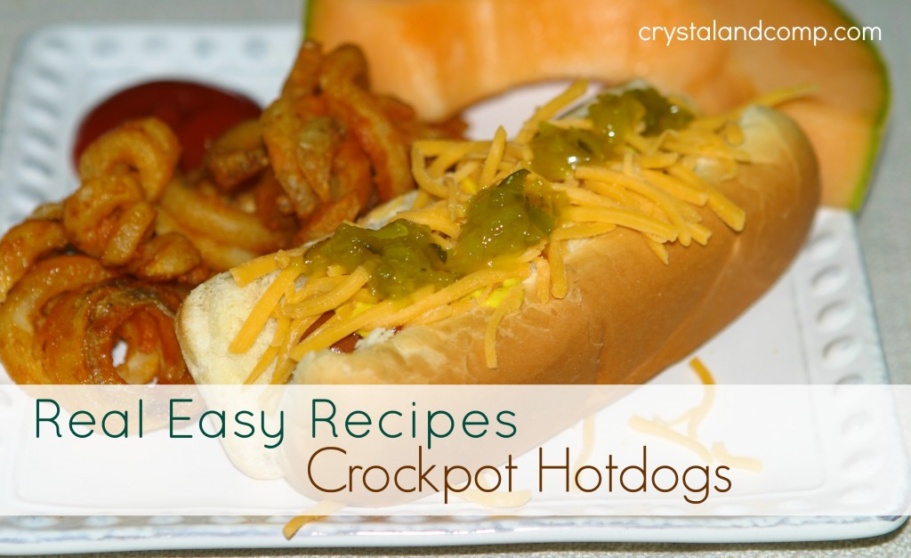 real easy recipes crockpot hotdogs