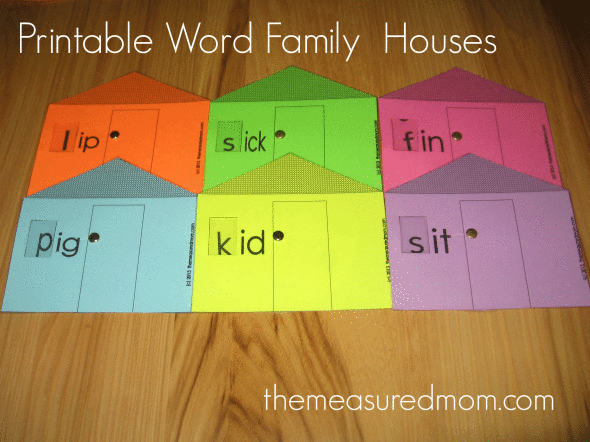 printables word family educational resource