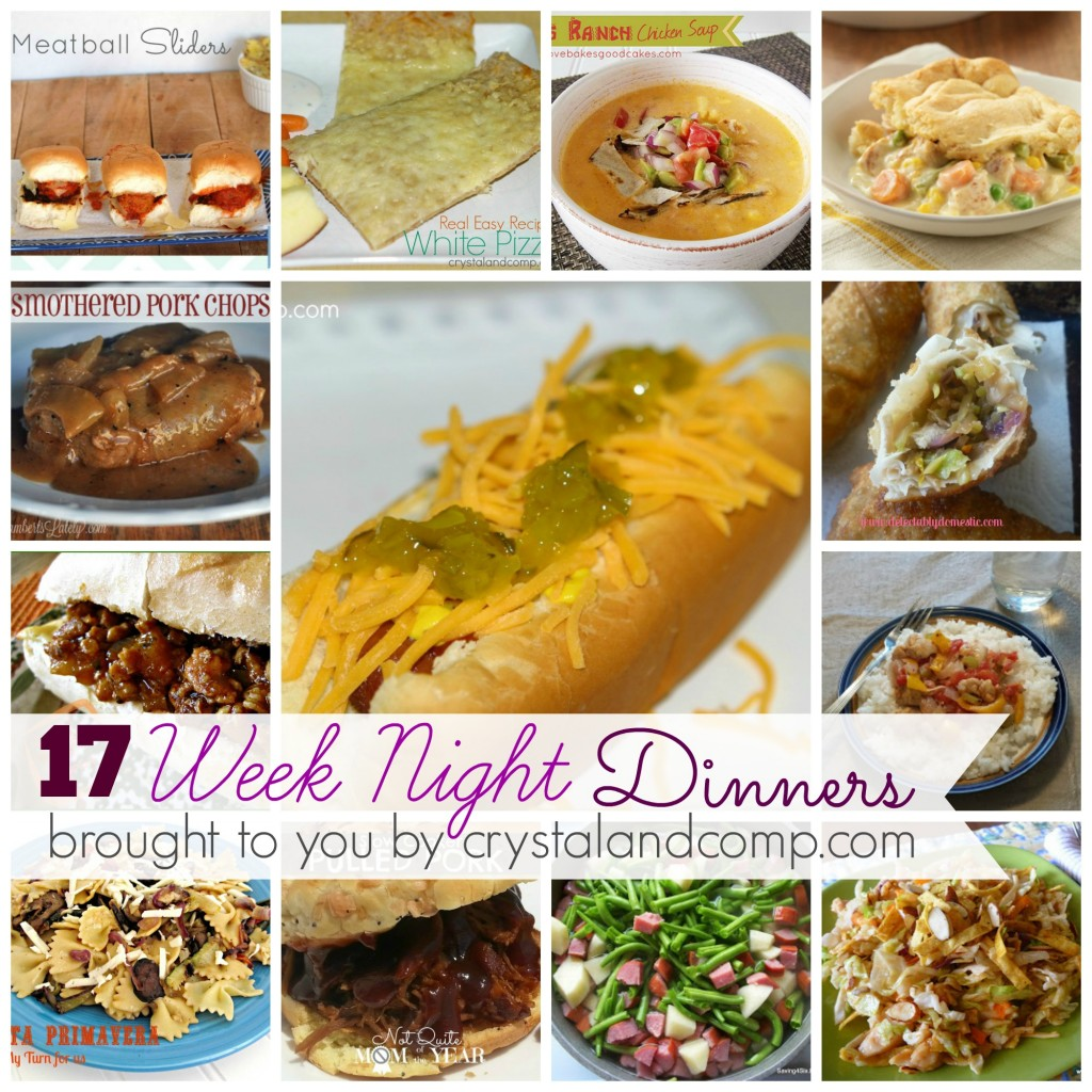 week night dinners