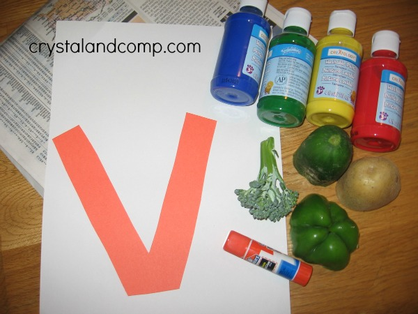 letter of the week preschool craft v is for vase