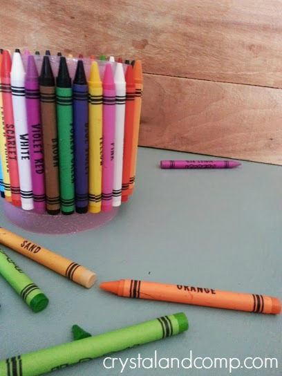 activities for kids back to school crayon holder