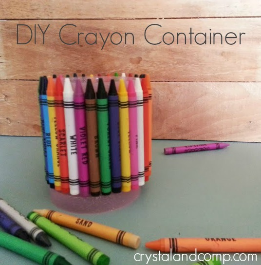 easy diy crayon container