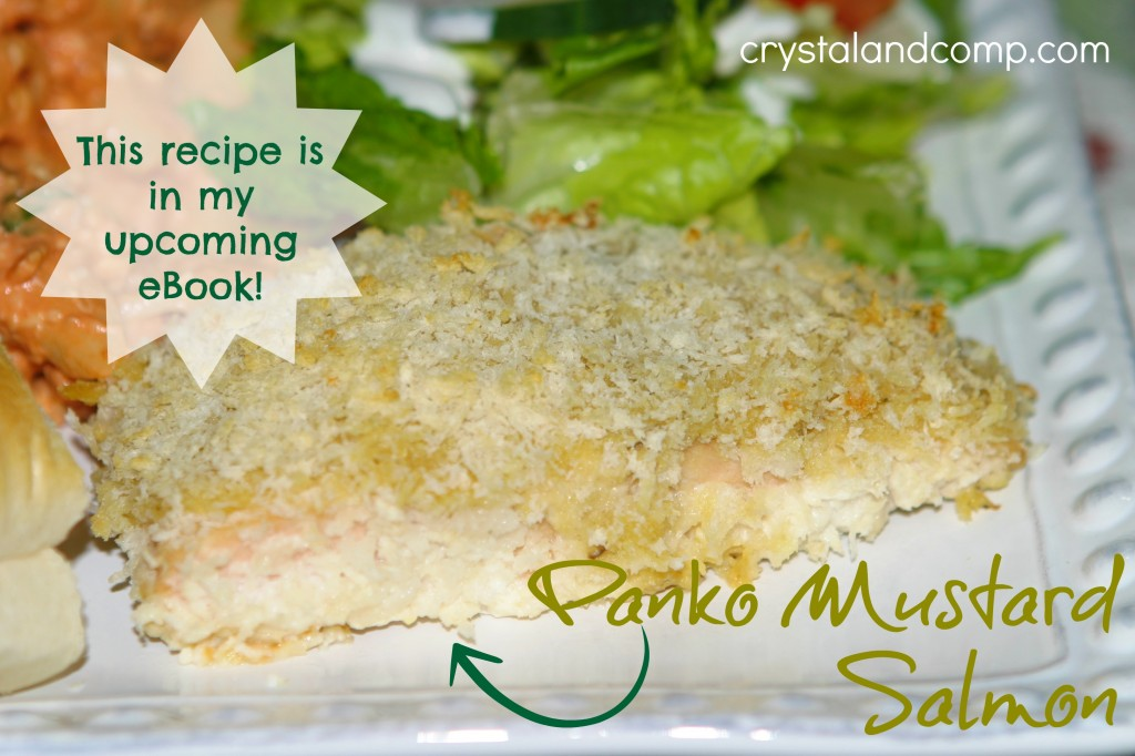 real easy recipes: panko mustard salmon