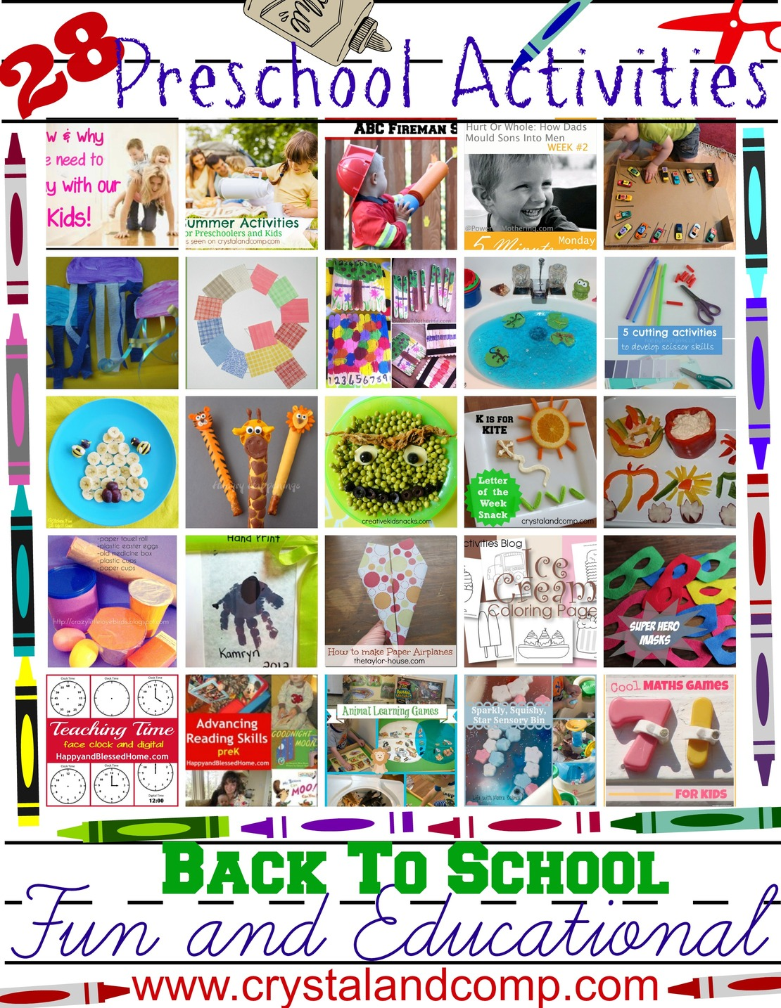 28 Fun And Educational Preschool Activities For Back To School