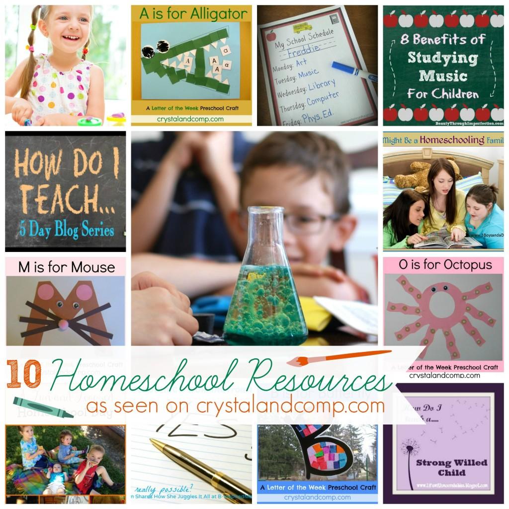 10 homeschool resources