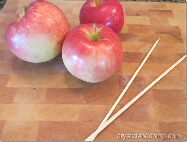 letter of the week snack ideas: l is for lollipop (a healthy apple lollipop)
