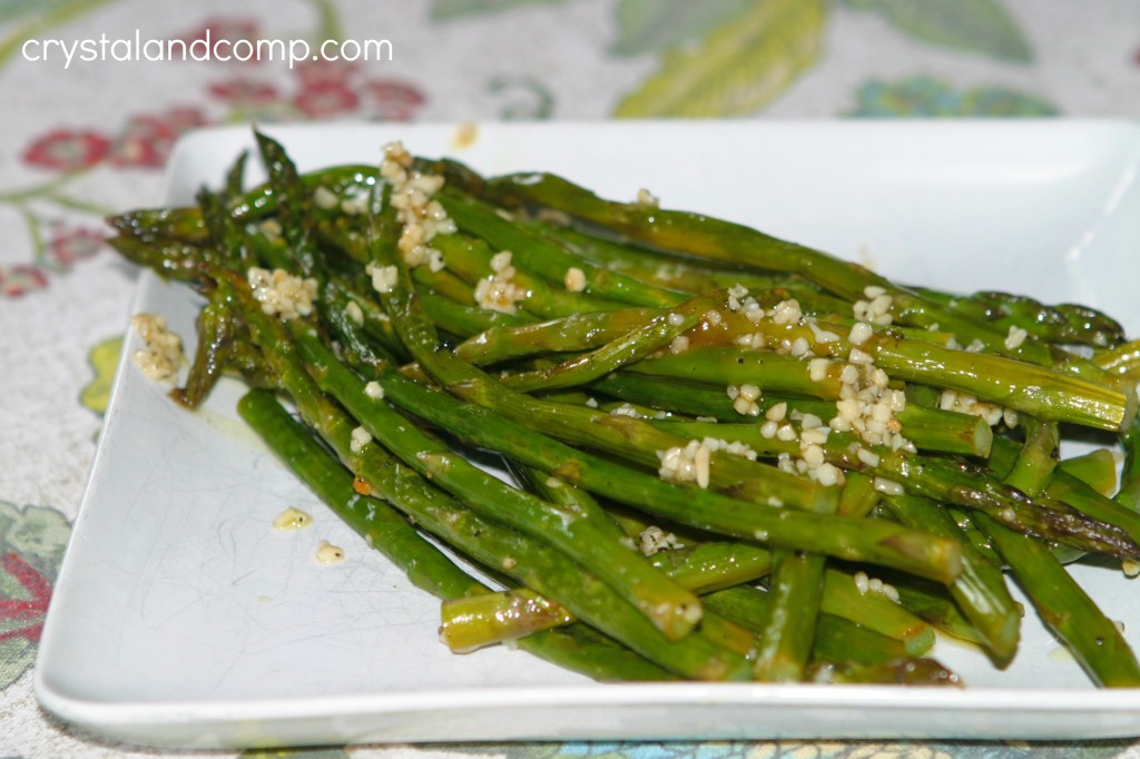 baked garlic butter asparagus