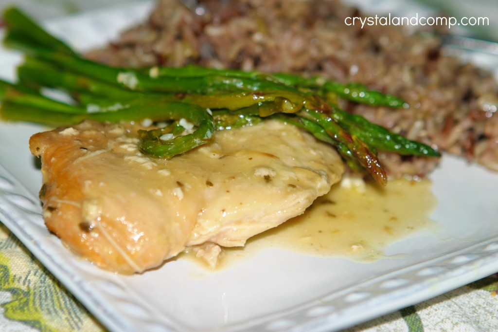 crockpot chicken dinner using trader joes garlic sauce