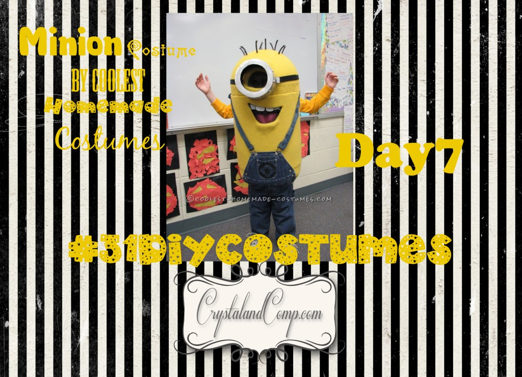 31 days of DIY halloween costumes how to make a minion costume